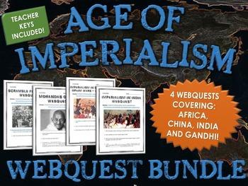 Age of Imperialism - Webquest Bundle (Africa, China, India