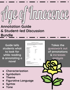 Age of Innocence Annotation Guide and Student-led Discussi
