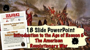 Age of Reason & American Revolutionary War Introductory Lesson