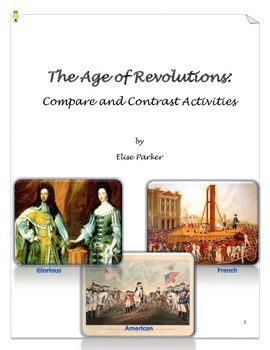 Age of Revolutions Review Worksheets - Glorious, French, A