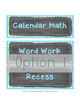 Agenda Schedule Cards {Editable} Chalkboard Theme