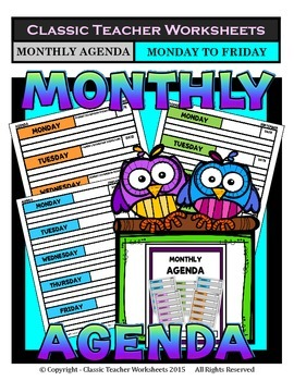 Agenda - Monthly Agenda Template (Monday to Friday) - Kind