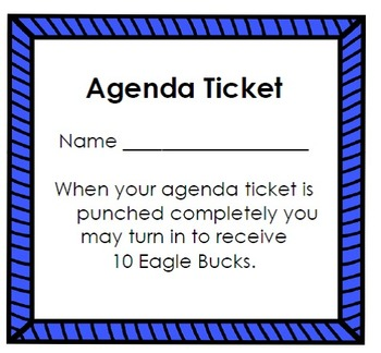 Agenda Ticket (editable)