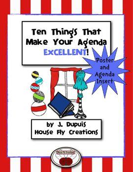 Agenda Tips Poster