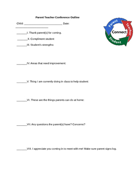Agenda for Parent Conferences
