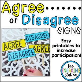 Agree/Disagree Signs