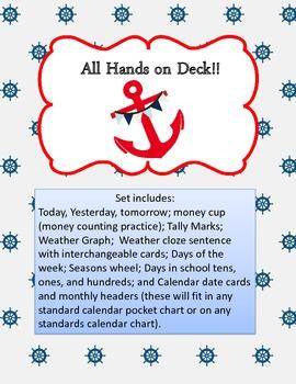 Ahoy Matey Calendar Set
