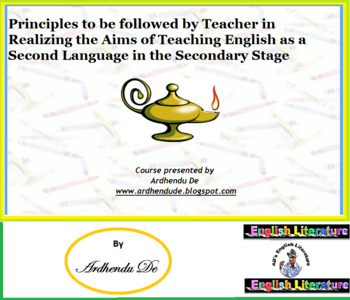 Aims of Teaching English as a Second Language in the Secon