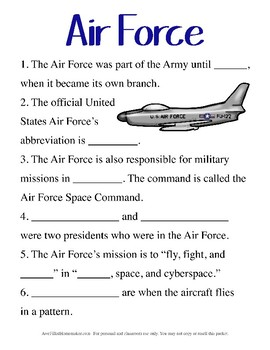 Air Force Unit Study- Upper Elementary