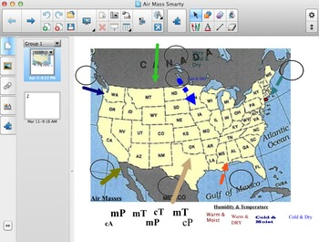 Air Mass Interactive Smartboard Activity