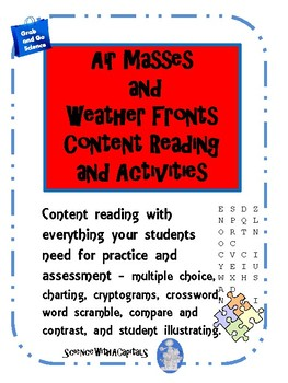 Air Masses and Weather Fronts Content Reading and Activities