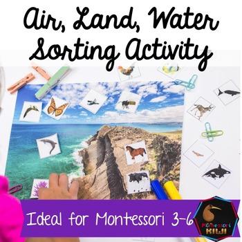 Air Land Water Montessori sorting (animals)