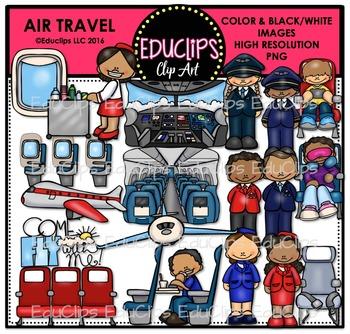 Air Travel Clip Art Bundle {Educlips Clipart}