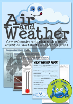 Air and Weather - Full Science Unit! Activities, Worksheet