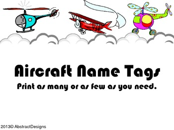 Aircraft Name Tags