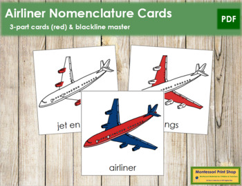Airliner Nomenclature Cards (Red)