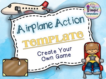 Airplane Action Template  - Create Your Own Game