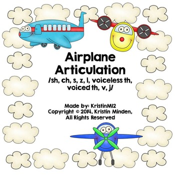 Airplane Articulation-/sh, ch, s, z, l, voiceless th, voic