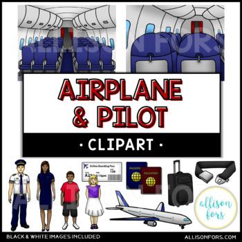 Airplane & Pilot Clip Art