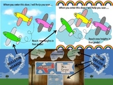 Preprinted/No Prep Airplane/Flight Themed Bulletin Board