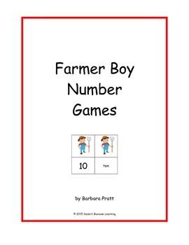 Farmer Boy Number Games: 0-25 eBook