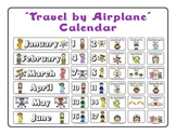 """Airplane"" themed Calendar Set"