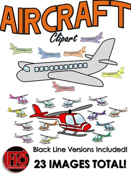 Airplanes and Helicopters Clip Art Pack