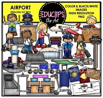 Airport Clip Art Bundle