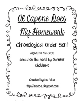 Al Capone Does My Homework Chronological Order Sort