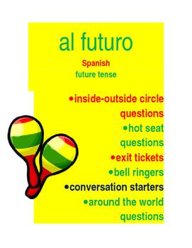 Al futuro : future question cards SPANISH