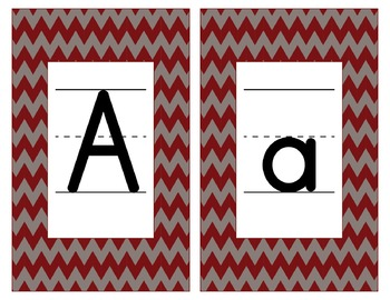 Alabama Inspired Maroon and Gray Alphabet/Number Cards for