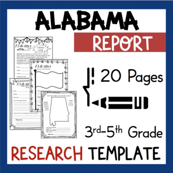Alabama State Research Report Project Template with bonus