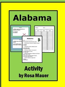 Uniquely Alabama Task Cards