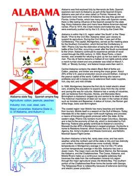 Alabama social studies lesson