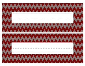 Alabama Themed Crimson and Gray Name Plates/Desk Tags/Word