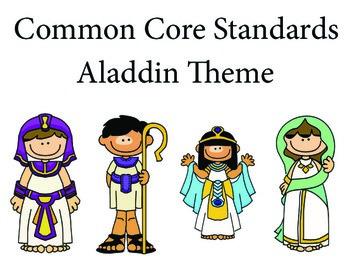 Aladdin 2nd grade English Common core standards posters