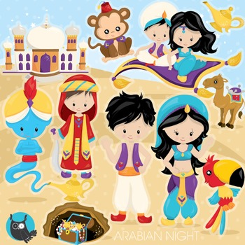 Aladdin clipart commercial use, vector graphics, digital - CL961