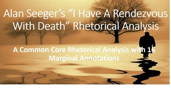 """Alan Seeger's """"I Have A Rendezvous With Death"""" Common Core"""