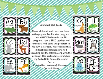 Alaphabet Wall Cards Polka dots galore