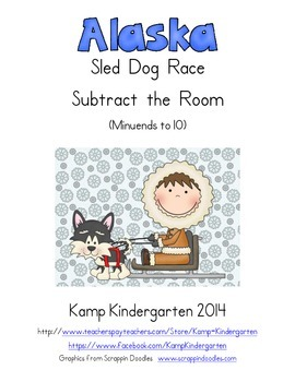 Alaska Sled Dog Race Subtract the Room (Minuends to 10)