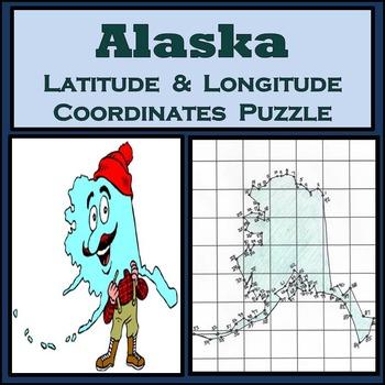Alaska State Latitude & Longitude Coordinates Puzzle - 92