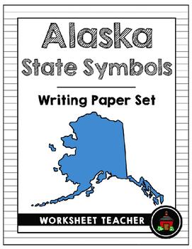 Alaska State Symbols Writing Paper Set