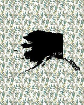 FREEBIE! Alaska Vintage State Map or Poster Class Decor, C