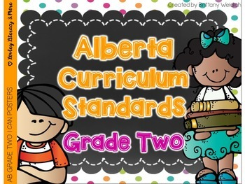Alberta Grade 2 Curriculum Standards I Can Posters