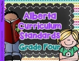 Alberta Grade 4 Curriculum Standards I Can Posters
