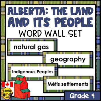 Alberta Grade 4 Social Studies Word Wall Words Editable