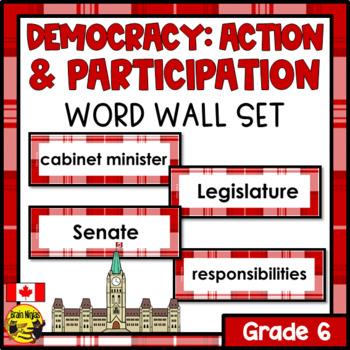 Alberta Grade 6 Social Studies Word Wall Words Editable