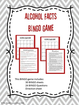 Alcohol Facts BINGO