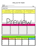 Alec Editable Lesson Plan Template
