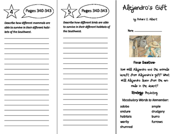 Alejandro's Gift Trifold - Imagine It 6th Grade Unit 3 Week 4